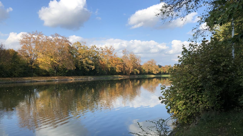 Fluß im Herbst